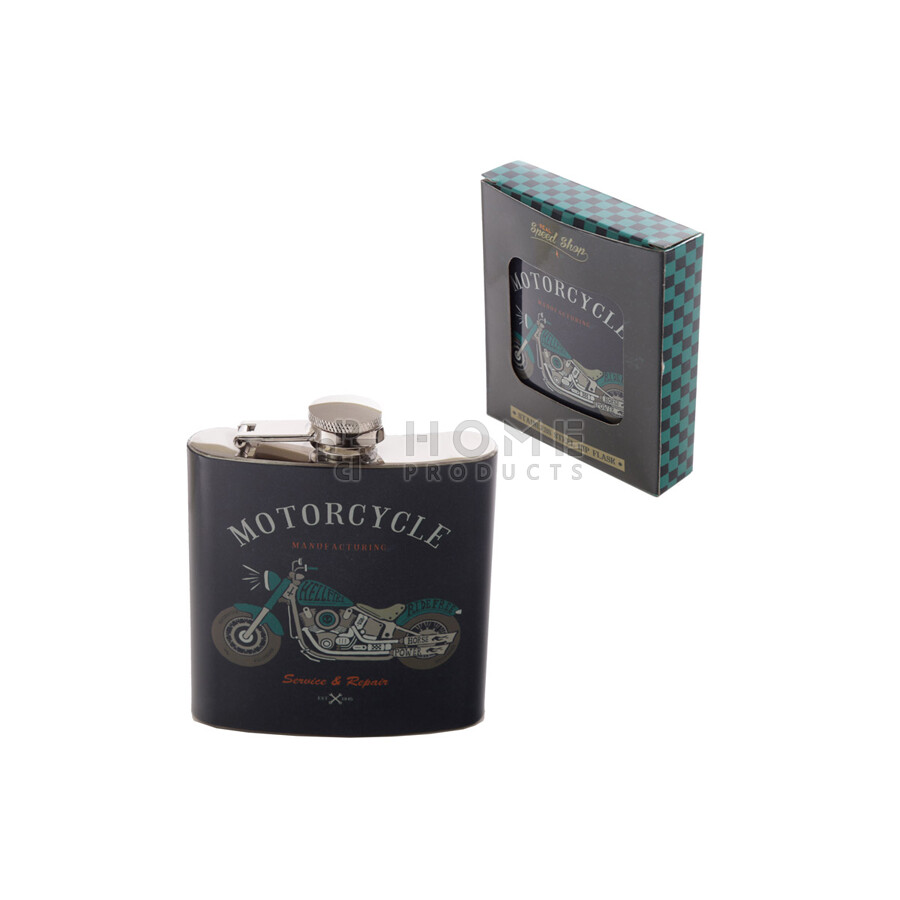 Bad Boy Motorcycle Flask, roestvrij staal, circa 177ml
